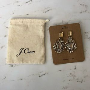 Jcrew cluster drop stone earring